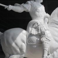 名古屋市役所、レオナルドダヴィンチ騎馬像 補修工事