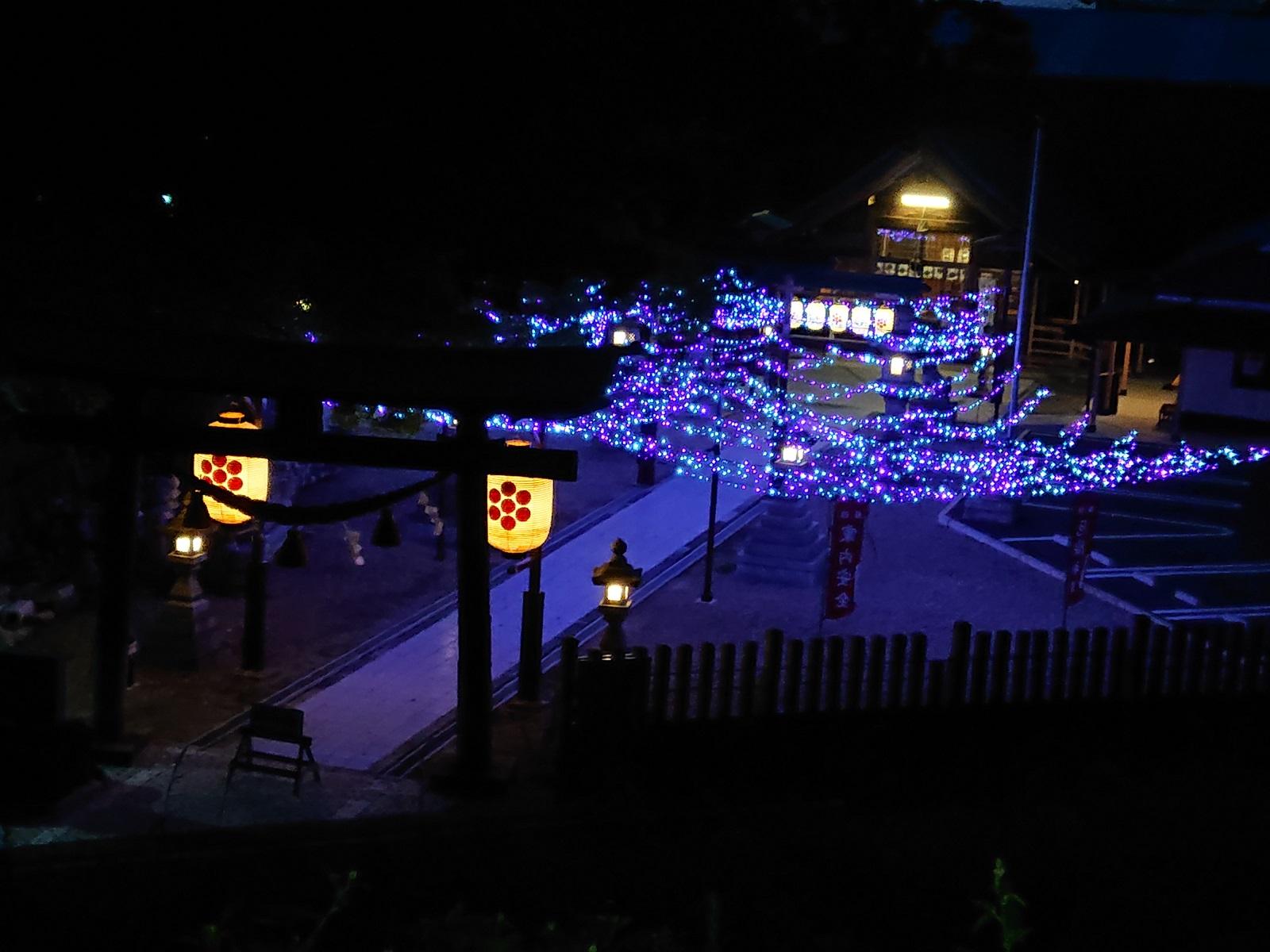 星神社様七夕祭りLED装飾